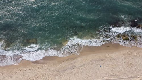 Drone Footage of a Beach Shore