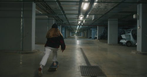 Skaters in Parking Lot