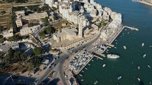 Drone Footage of City Sea Coast