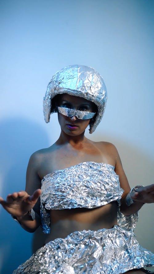 Woman Dancing Like A Robot