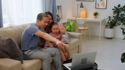 A Family Having a Video Call