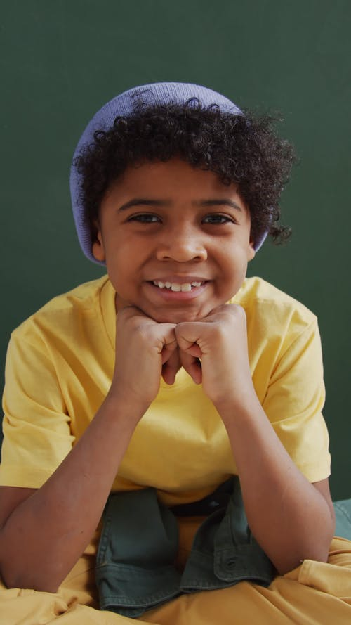 A Boy Wearing Beanie