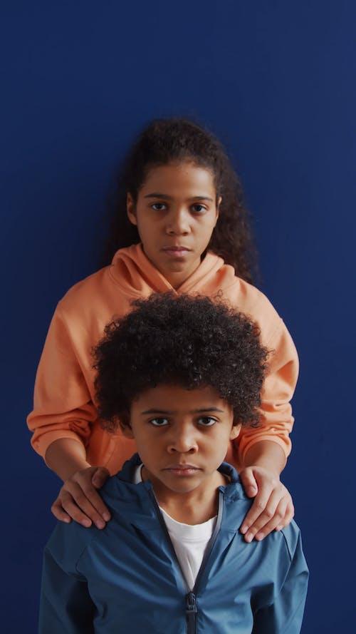 Kids Posing On Camera