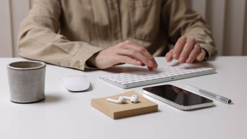 Person using Keyboard