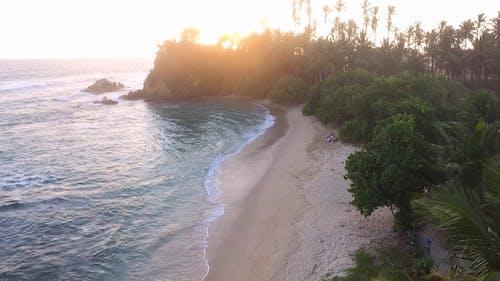 Sunset Over a Tropical Beach