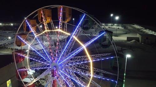 Aerial Footage of a Ferris Wheel