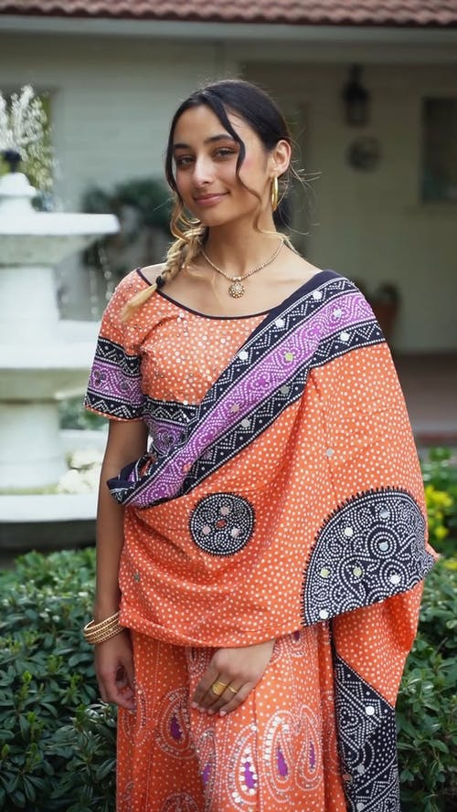 A Woman Wearing a Traditional Clothing