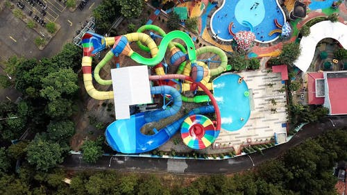 Drone Footage of a Water Park