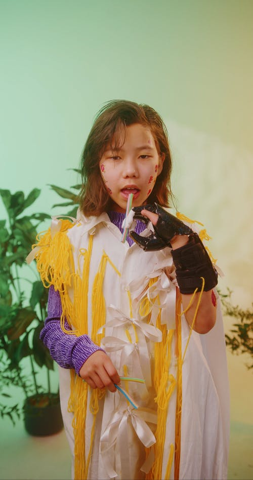 Young Girl in Conceptual Costume