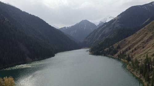 Aerial Footage of a Lake