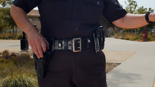 Police Officer Working
