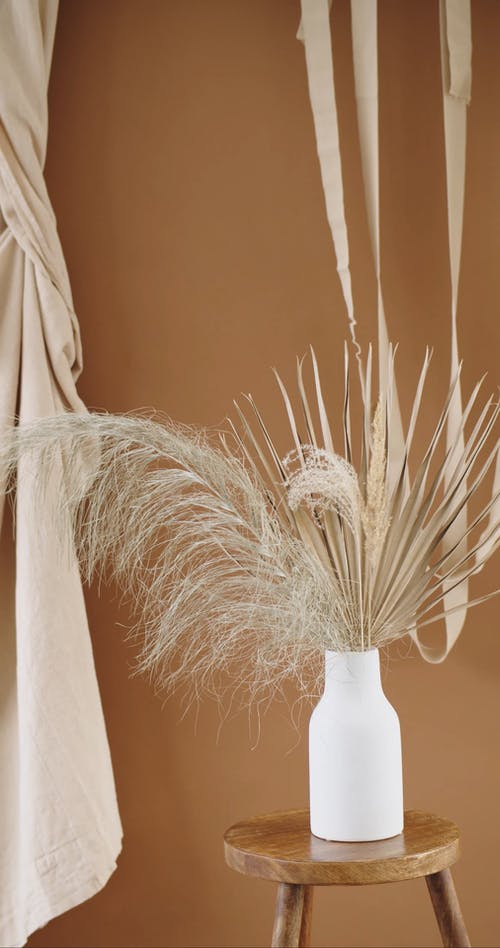 Dried Ornamental Plants in a Vase