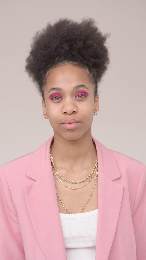 A Woman Wearing Pink