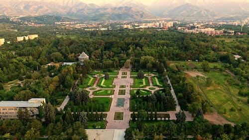 Drone Shot of Botanical Garden in Almaty