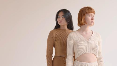 Female Models Wearing Knitwear