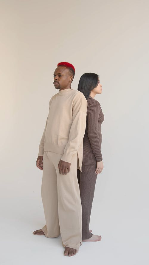 Man and Woman in Fashion Photoshoot