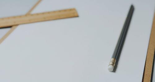 Tilt Shot Of Drawing Materials