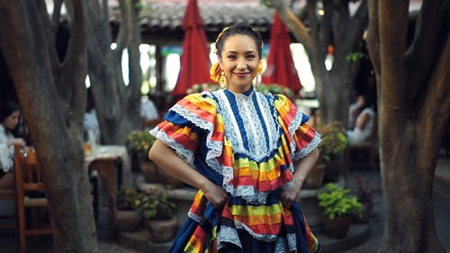 A Woman In Traditional Mexican Dress