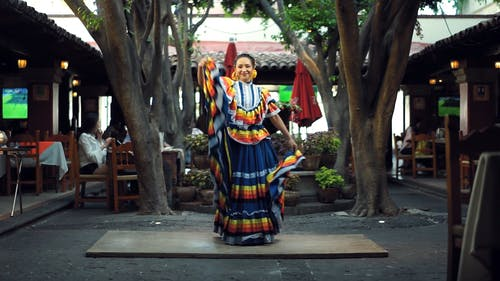 A Dancer Performing In An Open Restaurant