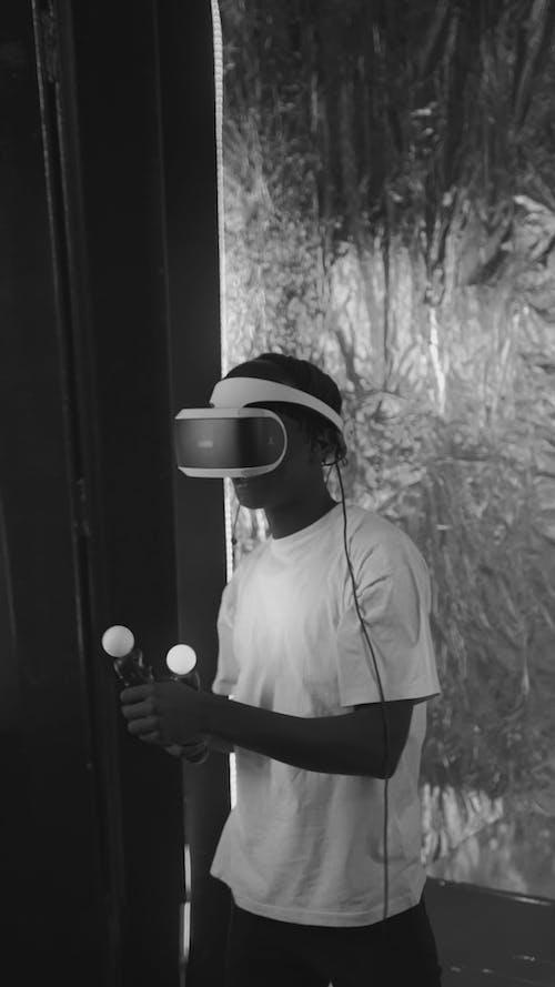 Person Playing Virtual Reality