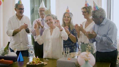 Senior People Celebrating a Birthday