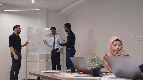 Team having Meeting