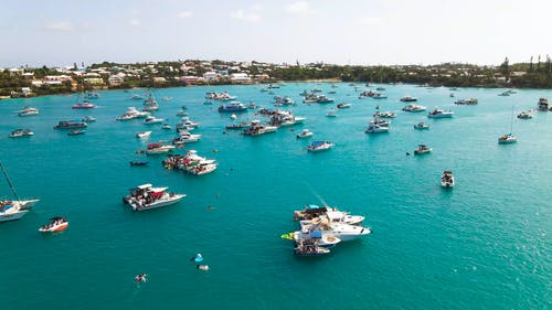 Aerial Footage of Motorboats