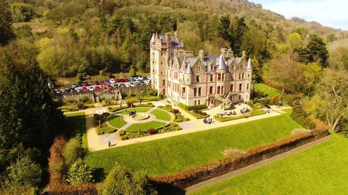 Drone Footage of a Castle