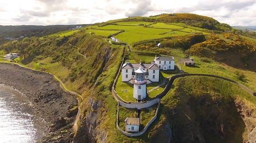 Aerial Footage Of Blackhead Lighthouse