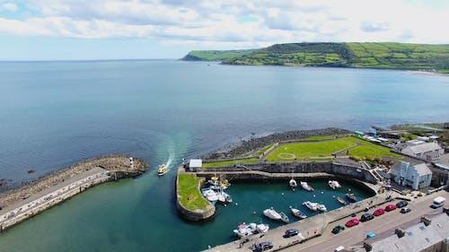 Aerial Footage of a Marina