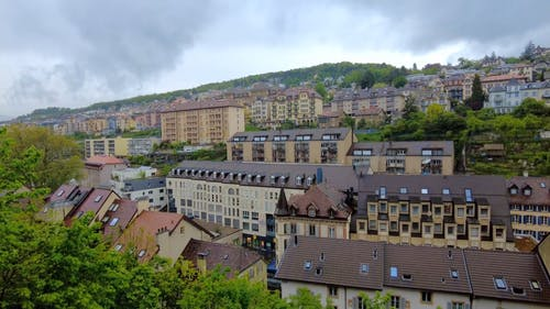 Time-lapse Of Buildings In Neuchatel