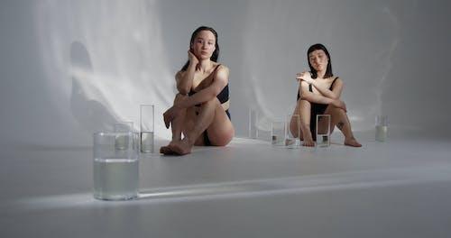 Women Posing on the Floor