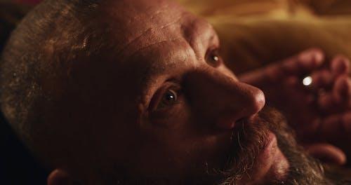 Close-Up Video of Man Looking at the Camera