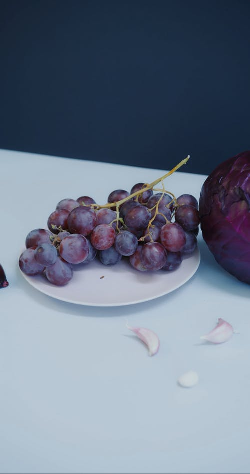 Purple Vegetables on Table Surface