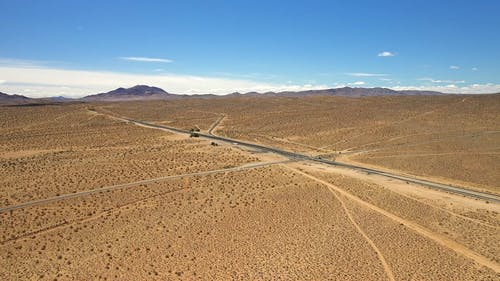 Drone Footage of a Road System in Death Valley