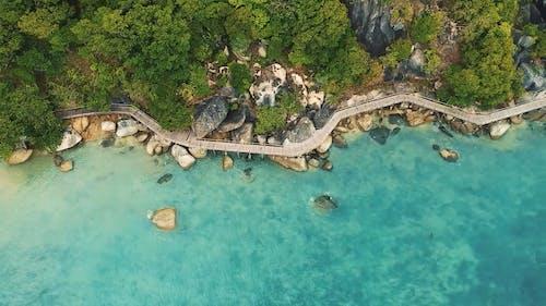 Drone Footage of a Coastline