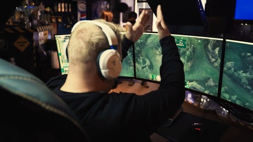 A Man Playing Video Game