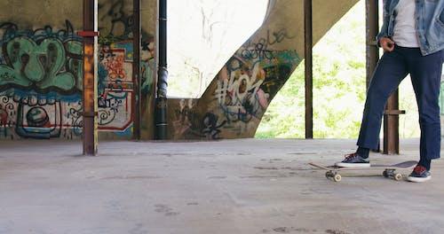 Man Riding a Skateboard