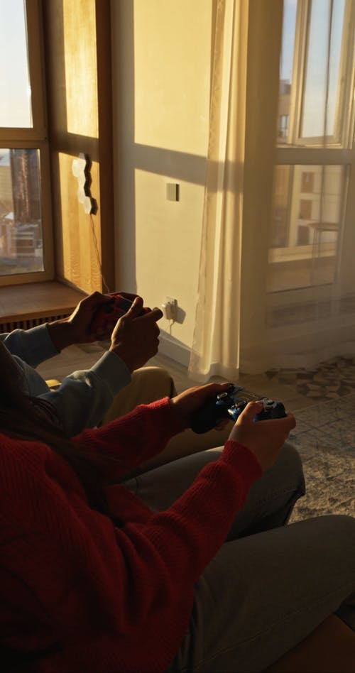 People Holding Game Controller