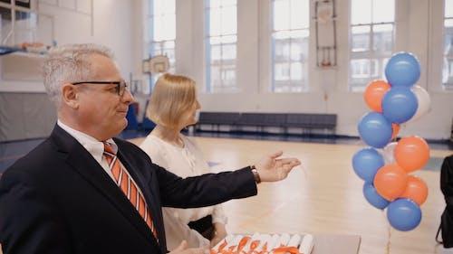 Video of School Director Doing a Formal Speech