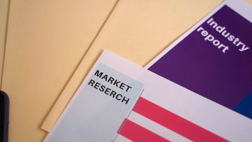 A Documents of a Marketing Research on a Table