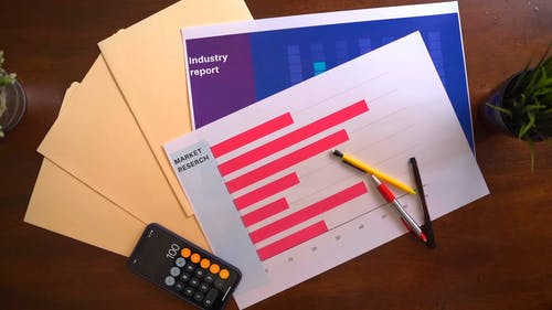 Documents of Marketing Research on a Table