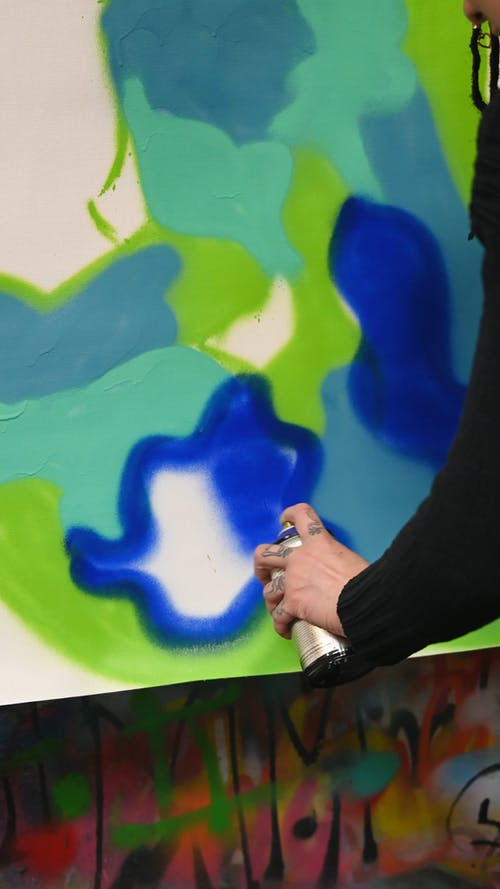 Spray Painting on Canvas
