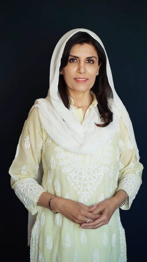 Woman Posing With Hijab