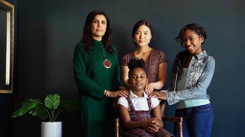 Diverse Women Posing On Camera