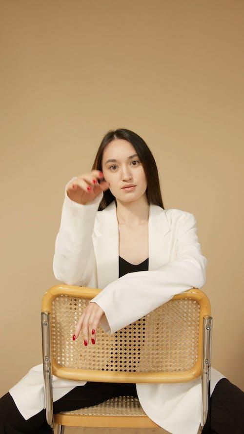 Female Model Wearing a Business Attire