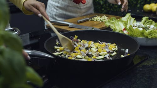 Close Up Shot of Girl Cooking