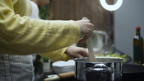 Close Up Shot of Girls Making a Cooking Vlog