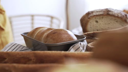 Close-up Video of a Bread