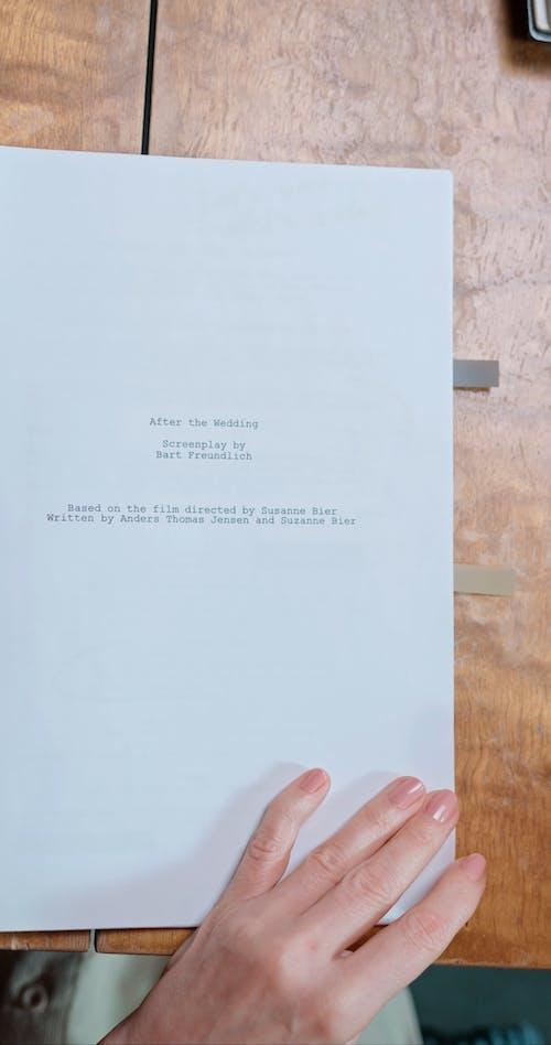 Crop Person Editing Paper Script